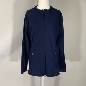 Nike Athletic Cardigan with arm vents Navy Blue L